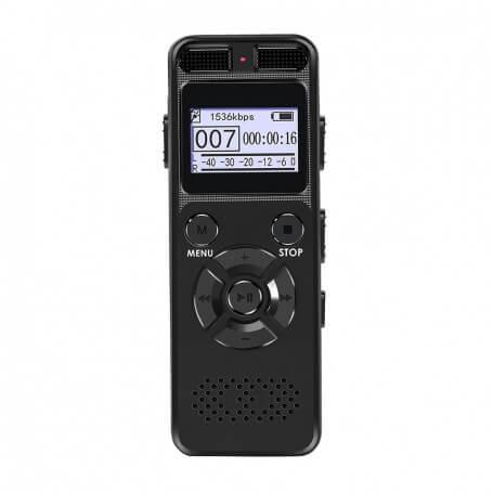 Dictaphone professionnel 8-16 Go noir - Cet enregistreur vocal numérique vous garantit une bonne qualité d'