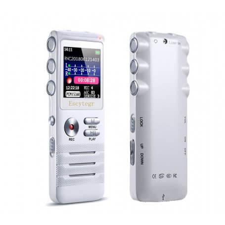 Audio recorder aux formes et fonctionnalités particulièrement modernes - Pour vous aider à mémoriser toutes les i