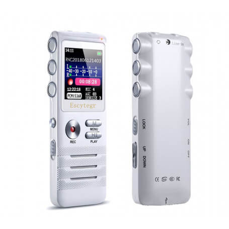Audio recorder features and shapes especially modern - To help you remember important sound information, this recorder is the i