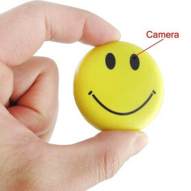 Smiley miniature spy camera - This miniature camera smiley badge is a unique accessory. As the products of the range spy camera