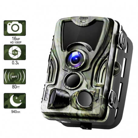 Infrared camera hunting GSM 2 G Full HD 16MP - Hunting GSM 2 G camera equipped with a 16 million FULL HD 1080 p, LCD 2 inch, 12