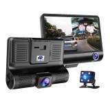 Dashcam met scherm en 3 HD-camera's - Dashcam