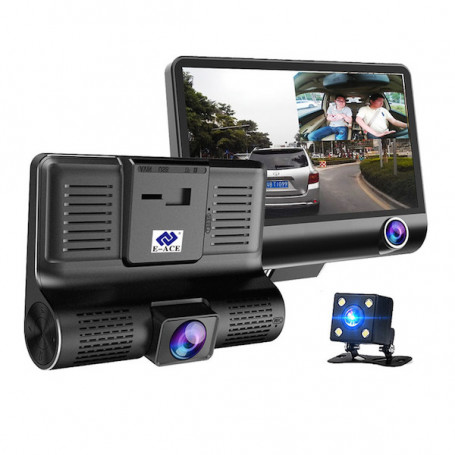 Dashcam with screen and 3 HD cameras - This dashcam for car HD is a good device for filming driving incidents. Its main advanta