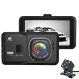 Dash cam double objectif Full HD - Cette dash cam est dotée d'un double objectif qui offre une prise de vue sur la