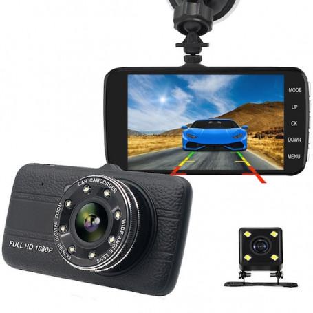 Dashcam Full HD double objectif à vision nocturne