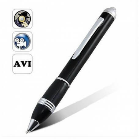 Spy pen HD - This clever pen hides a spy camera HD that allows you to photograph and film. It can also be used to monitor witho