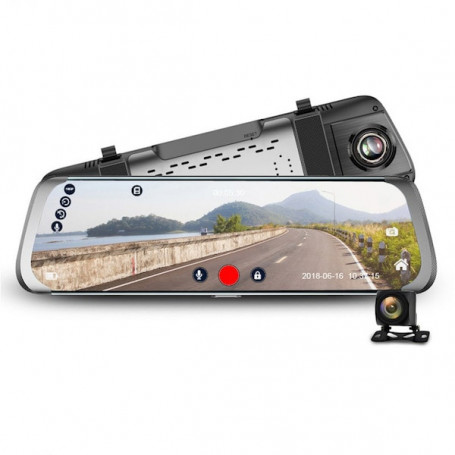Dashcam rearview mirror 4G full HD WiFi GPS