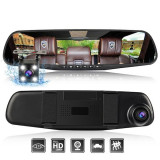 Dual camera car rearview mirror full HD - Dashcam