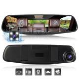 Dual Dash Cam Camera Full HD Rearview Mirror - Dash cam