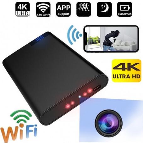 Power bank mini caméra Wifi 4K Ultra HD