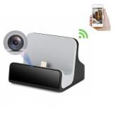 Estación de recarga para iPhone con cámara espía Wifi