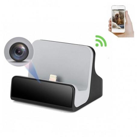 Stazione di ricarica per iPhone con fotocamera spia Wifi - Altra telecamera spia