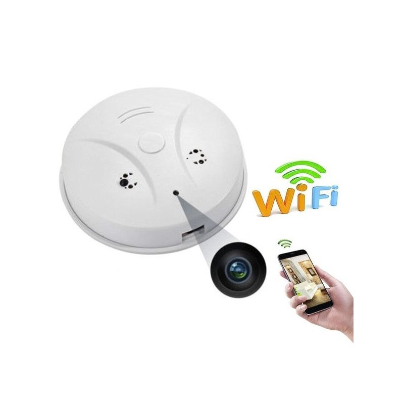 Intelligent Smoke Detector With Mini Surveillance Camera And