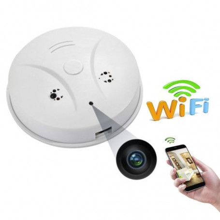 WiFi smoke detector with mini camera and motion detector