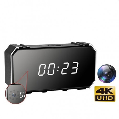 Alarm clock spy camera ultra HD 4K WiFi infrared vision - Spy camera clock