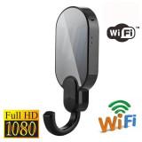 Puerta abrigos cámara espía Wifi Full HD