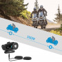 Wireless Bluetooth 4.1 motorcycle intercom with voice control