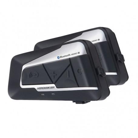 Waterproof motorcycle intercom Bluetooth 1200 meters high autonomy - Duo motorcycle intercom
