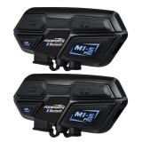 Duo intercom motorfiets Pro Bluetooth bereik de 2000m