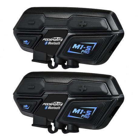Duo intercom moto Pro bluetooth portée 2000m - Intercom moto Duo
