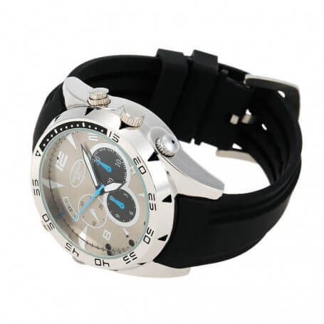 Shows with mini Full HD 1080 p camera - The spy camera watch is completely waterproof and reliable. Offering total discretion,