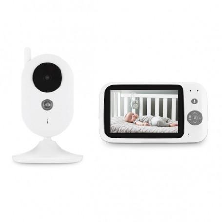 Babyphone vidéo 2,4 Hz avec écran LCD 3.5 pouces - Babyphone vidéo