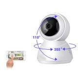 Aangesloten babyfoon en PTZ bewakingscamera