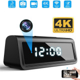 4K wifi remote vision camera wake-up with motion detector - Spy camera clock