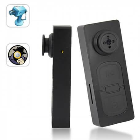 Caméra espion bouton HD fonctionnelle - Lamini caméra bouton espionjoue à la fois le rôle d&rsq