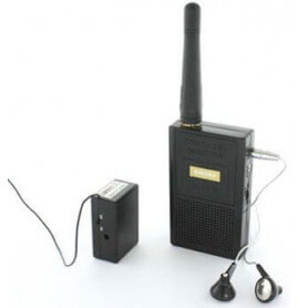 Long distance wireless spy microphone - This micro spy combines the performance and discretion. The device is supplied with ess