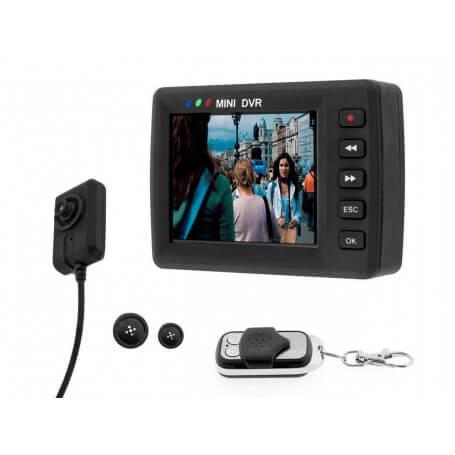 Caméra bouton espion avec écran LCD - Lamicro caméra bouton espion HDse distingue par l'originalit&eac