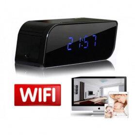 Despertar con cámara HD Wifi en miniatura - Reloj despertador de la cámara espía