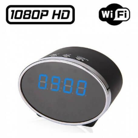 Reloj de alarma espía Ip Wifi 5 millones de píxeles - Reloj despertador de la cámara espía
