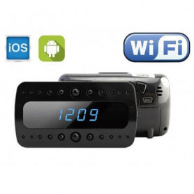 Alarm clock camera wifi 5 million pixels - The spy camera alarm clock works with wireless internet network. Total discretion, i