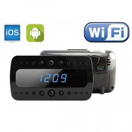 5m pixel WiFi camera alarm clock - Spy camera alarm klok