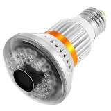 Light bulb camera wifi with night vision - With infrared vision, our camera wifi light bulb remains can be used day and night.