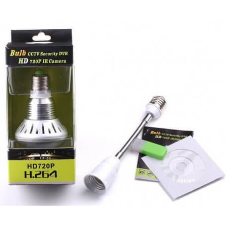 Bulb HD video camera with night vision - The bulb HD 5MP camera allows both a local lighting and espionage of the intruders. It