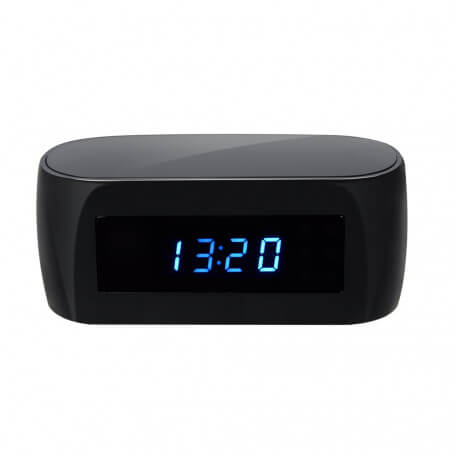 Réveil caméra wifi Full HD avec intercom - Réveil avec caméra cachée wifi Full HD, 12 millions de pixels,