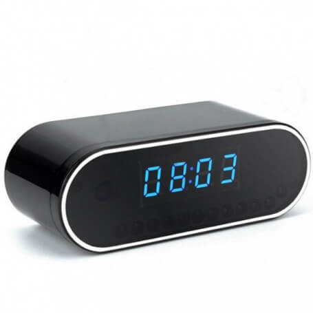 Réveil avec mini caméra espion infrarouge wifi - Réveil caméra espion