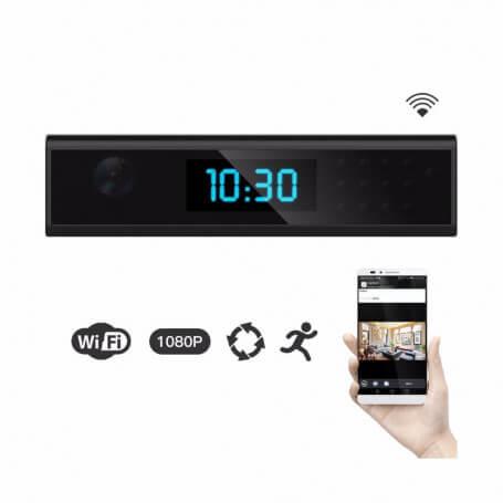 Réveil caméra espion Full HD wifi rectangulaire - Réveil caméra haute définition wifi, vision à dis