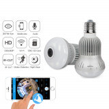 Ampoule caméra Haute Définition wifi 360 degrés - Ampoule caméra espion HD avec vision 360 degrés Wifi, 1.3 milli