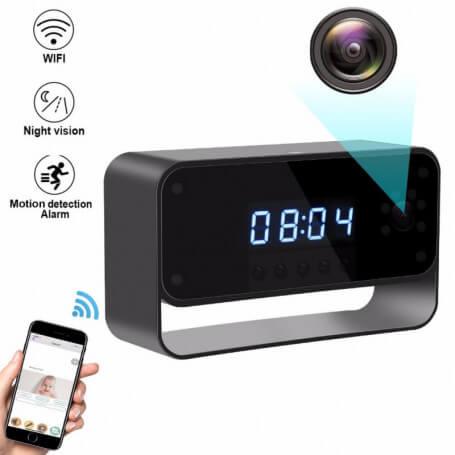 Réveil caméra espion HD 1080P Wifi détecteur de mouvement - Réveil caméra espion