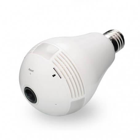 Ampoule caméra espion Wifi IP 360 degrés 1.3MP - Ampoule caméra