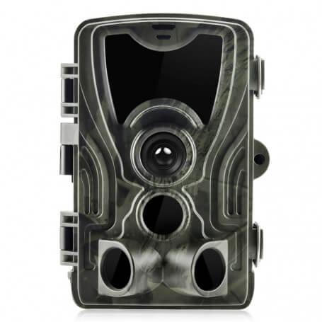 Caméra chasse infrarouge Full HD 16MP discrète - Caméra de surveillance de chasse 18 millions de pixels Full HD, angle d
