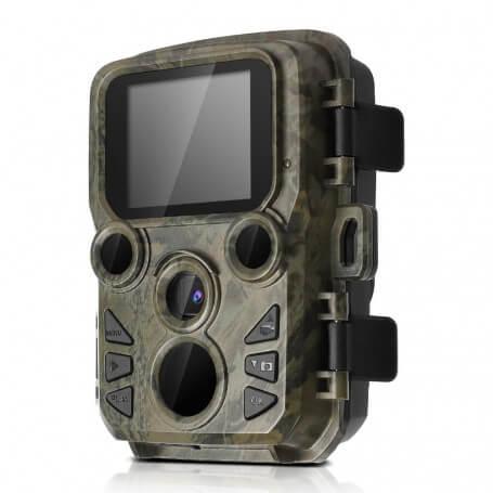 Mini caméra de chasse 12MP 1080P compacte - Piège photographique Full HD avec capteur de 12 millions de pixels, autonomi