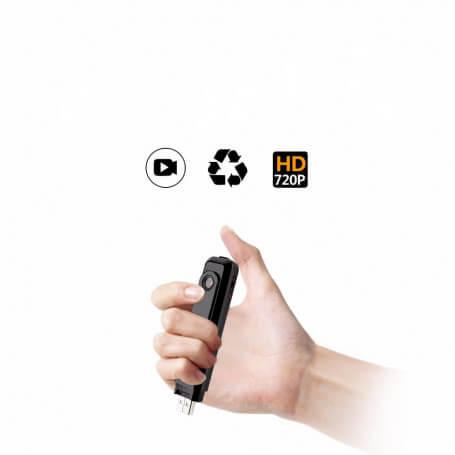 Mini caméra Full HD 1080P avec enregistreur vocal - Mini caméra espion Full HD avec enregistreur vocal intégr&eac