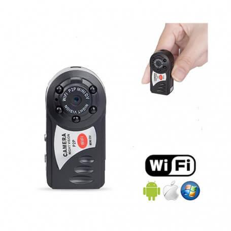 Mini caméra HD wifi détection de mouvement - Mini caméra de surveillance Wifi avec vision à distance en direct, v