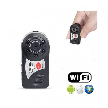 Mini HD wifi motion detection camera - Mini surveillance camera Wifi with on-line distance vision, infrared vision, motion dete