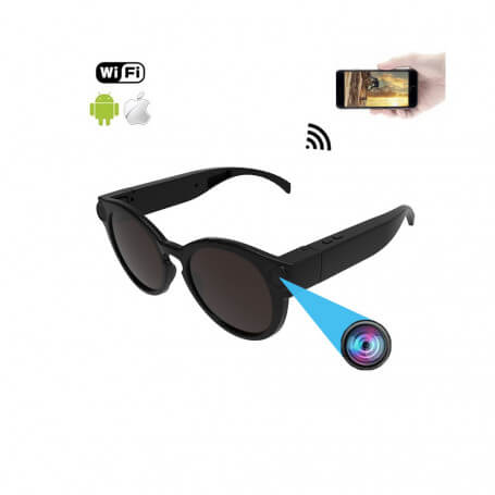 Sports with Full HD wifi spy camera sunglasses - Sunglasses spy camera Full HD wifi, goal of 12 million pixels, vision directly