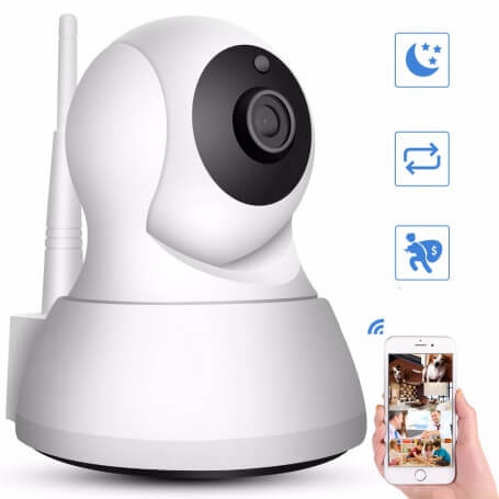 Mini IP camera high definition 1 million pixels, wifi - CCTV camera motorized 720 p high definition, image sensor 1 million pix